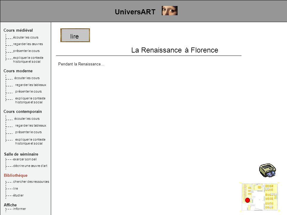 La Renaissance à Florence