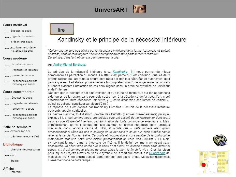 Kandinsky et le principe de la nécessité intérieure