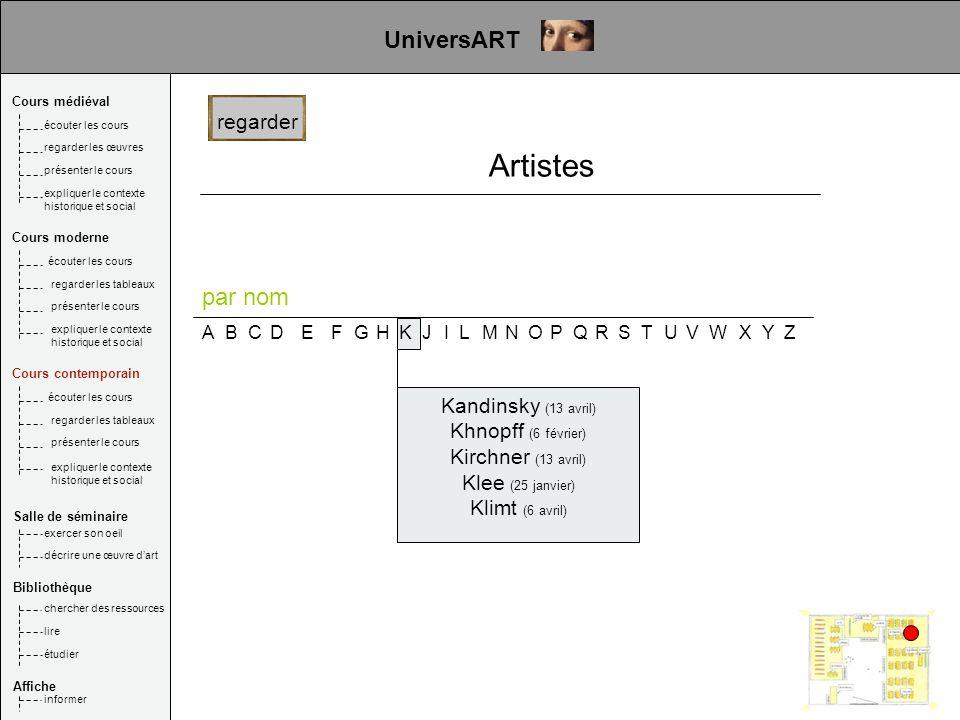 Artistes UniversART par nom regarder Kandinsky (13 avril)