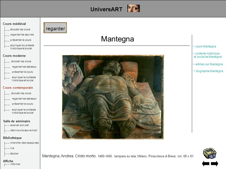 Mantegna UniversART regarder