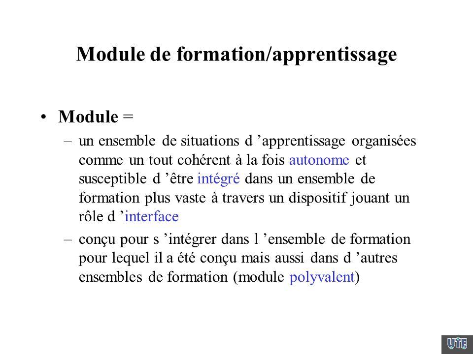 Module de formation/apprentissage