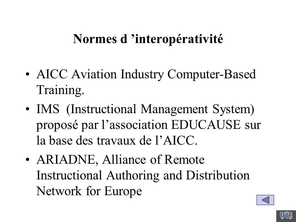 Normes d 'interopérativité