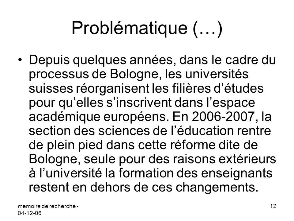 Problématique (…)