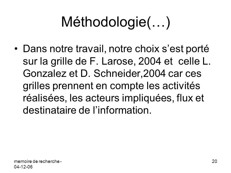 Méthodologie(…)