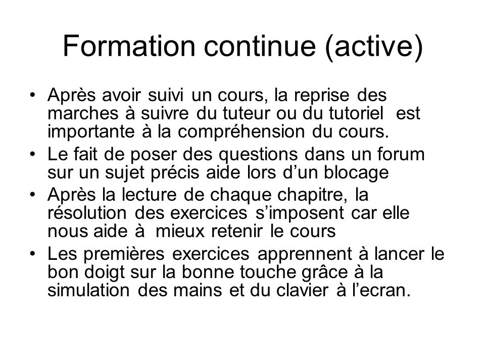 Formation continue (active)