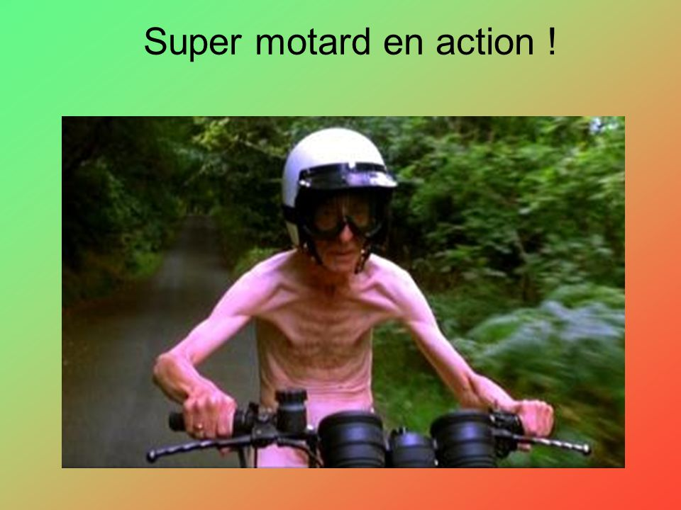Super motard en action !