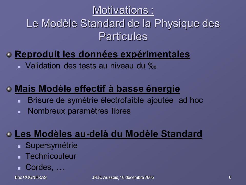 Motivations : Le Modèle Standard de la Physique des Particules