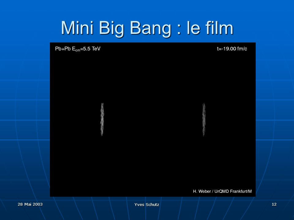 Mini Big Bang : le film 28 Mai 2003 Yves Schutz
