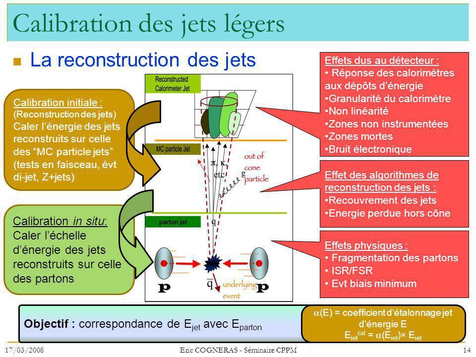Calibration des jets légers