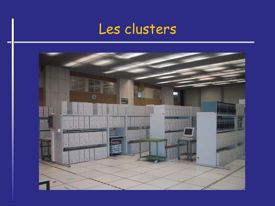 Les clusters A laisser Tout ne va pas migrer en clusters : par exemple, les bases de donnees restent dans les gros serveurs (grosses machines)