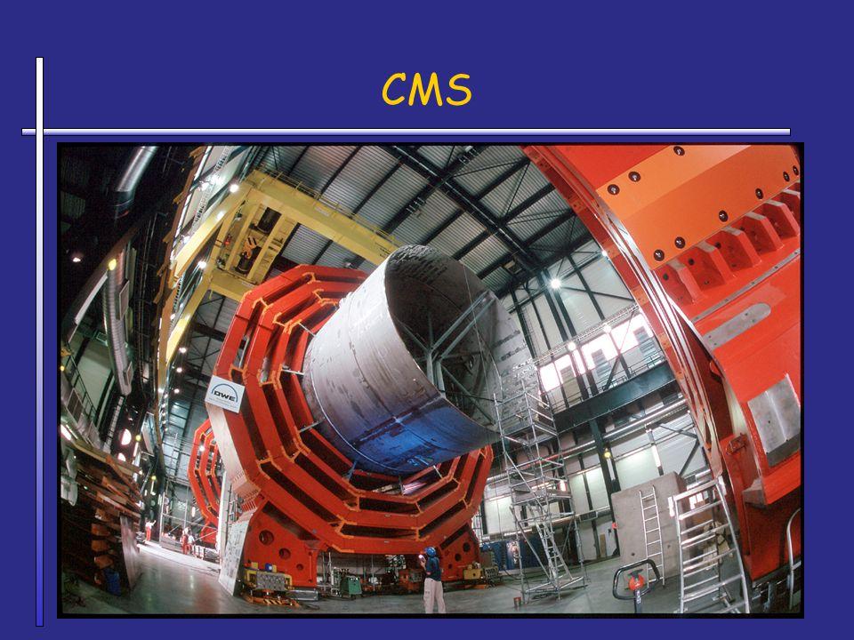 CMS CMS = detecteur le plus lourd (x fois le poids de la Tour Eiffel)