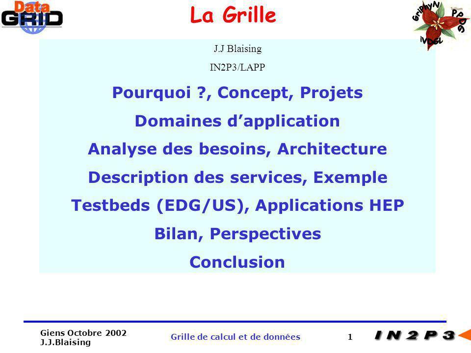 La Grille GriPhyN PPDG iVDGL Pourquoi , Concept, Projets