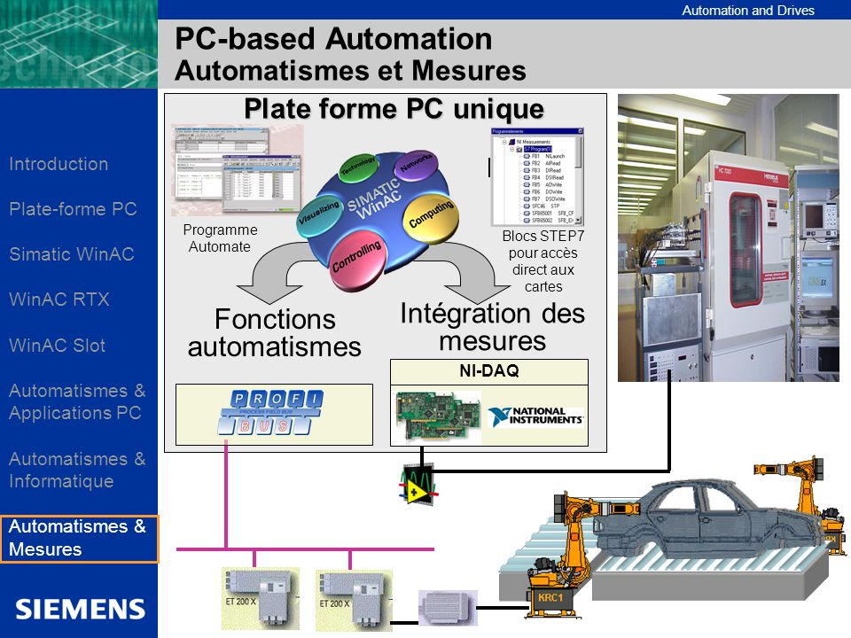 PC-based Automation Automatismes et Mesures