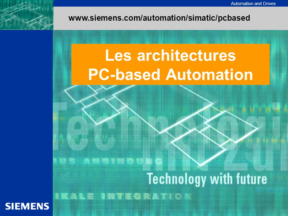 Les architectures PC-based Automation