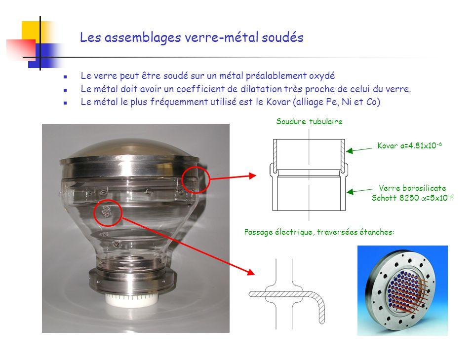 Les assemblages verre-métal soudés