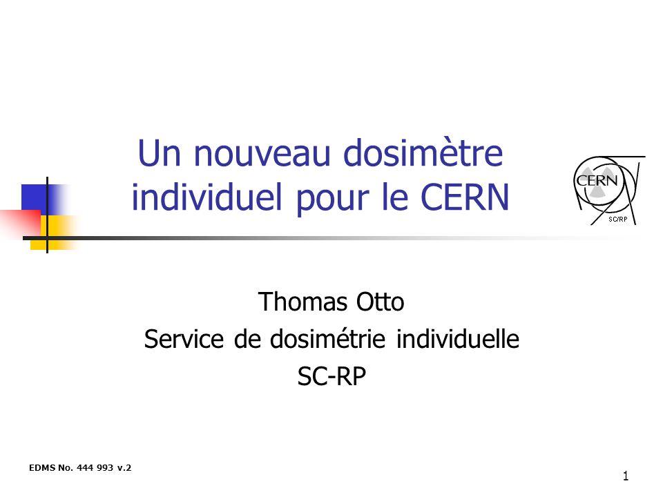 Un nouveau dosimètre individuel pour le CERN