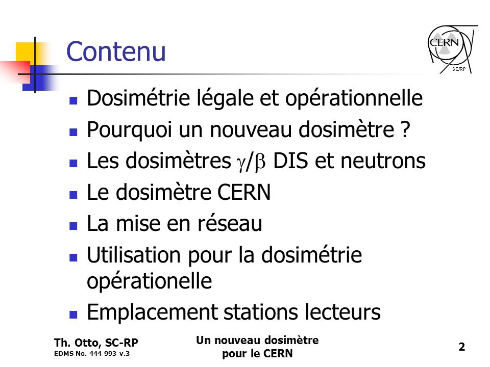 Un nouveau dosimètre pour le CERN