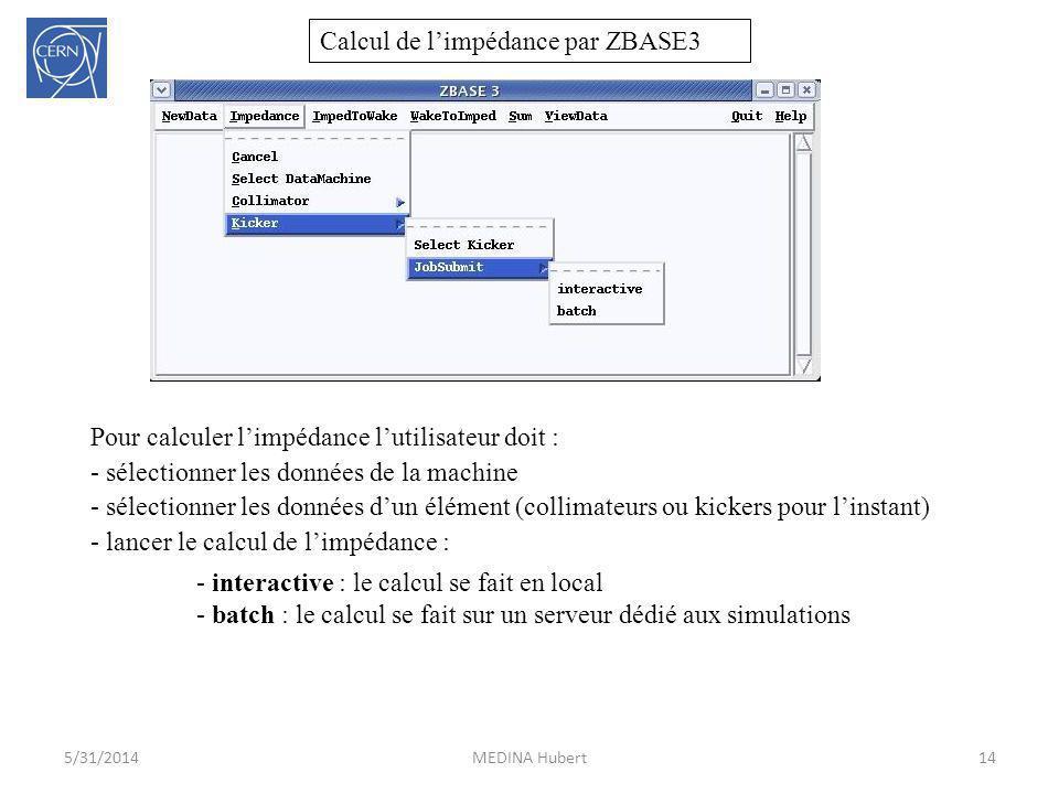 Calcul de l'impédance par ZBASE3