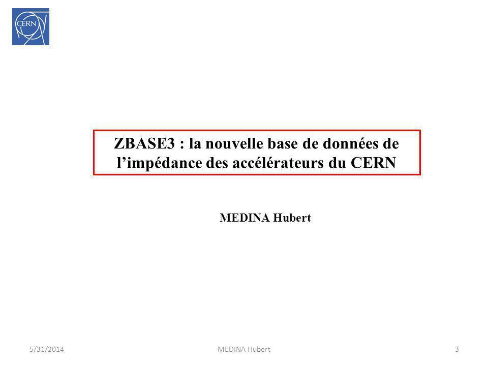 ZBASE3 : la nouvelle base de données de l'impédance des accélérateurs du CERN