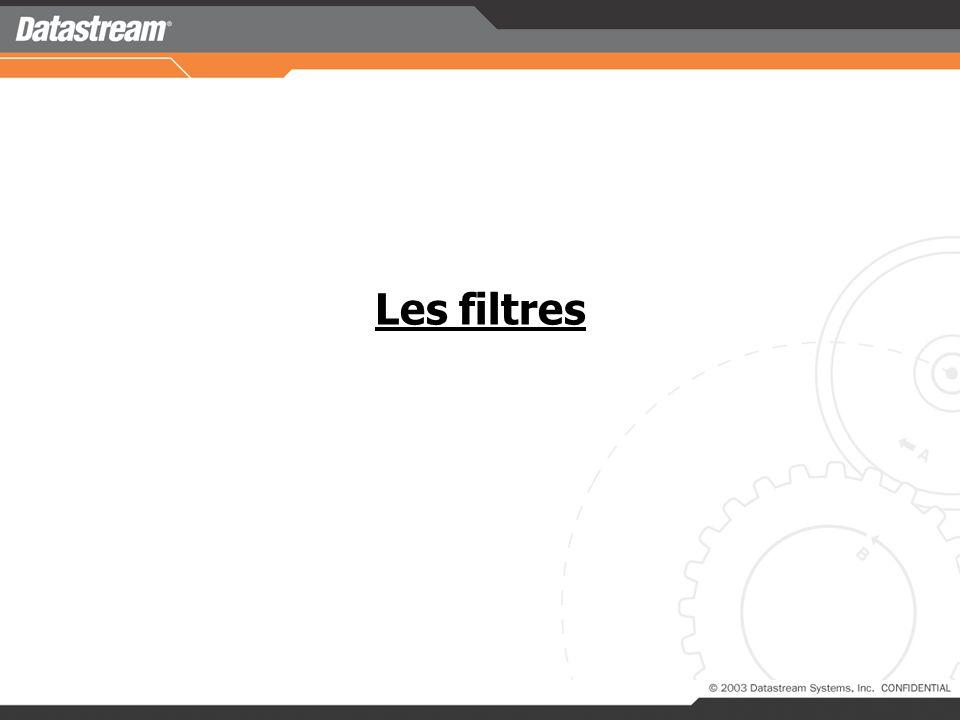 Les filtres