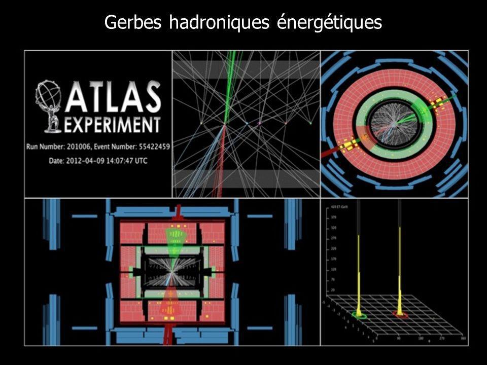 Gerbes hadroniques énergétiques