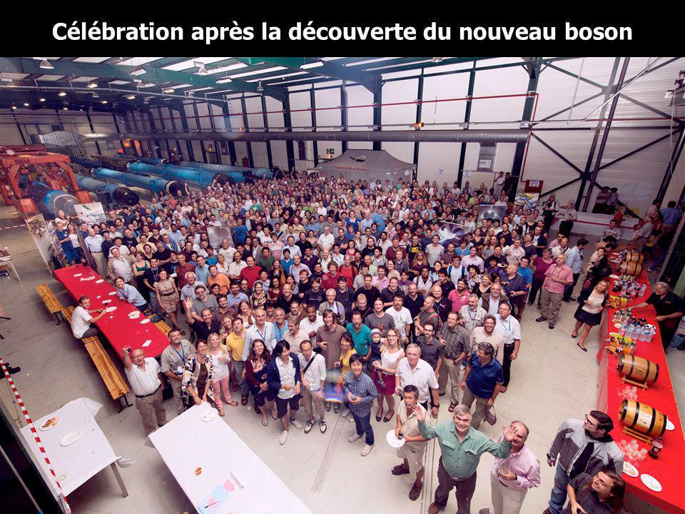 Célébration après la découverte du nouveau boson