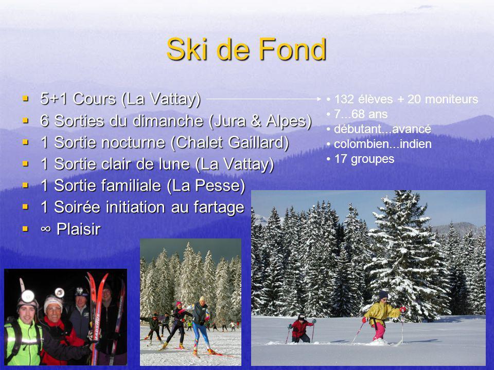 Ski de Fond 5+1 Cours (La Vattay) 6 Sorties du dimanche (Jura & Alpes)