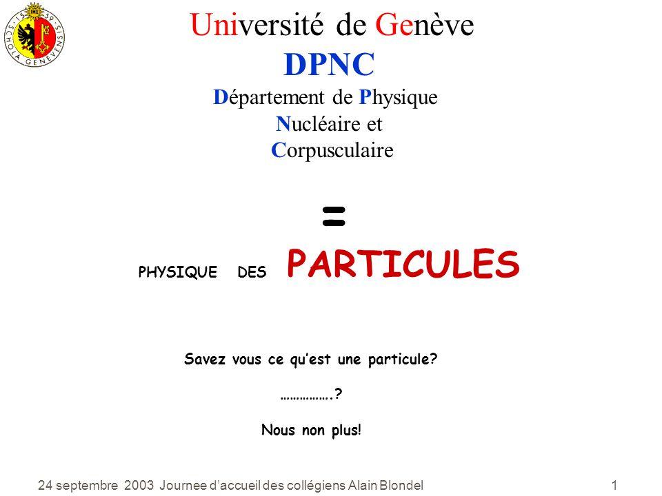 Savez vous ce qu'est une particule