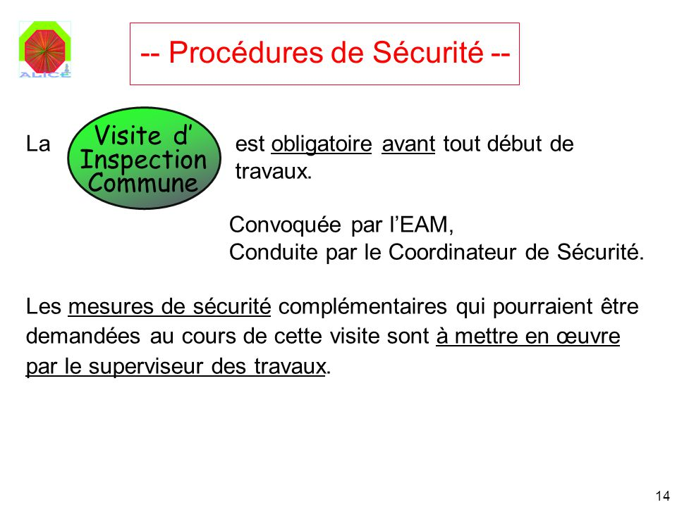 -- Procédures de Sécurité --