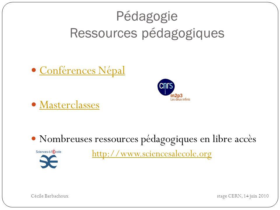 Pédagogie Ressources pédagogiques