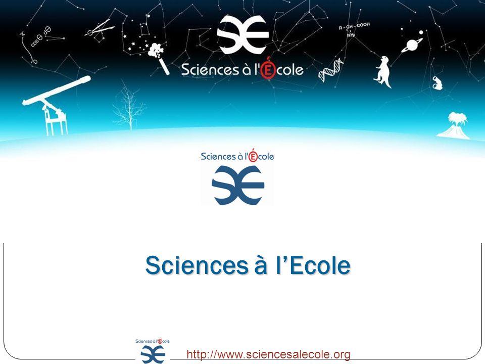 Sciences à l'Ecole http://www.sciencesalecole.org 3