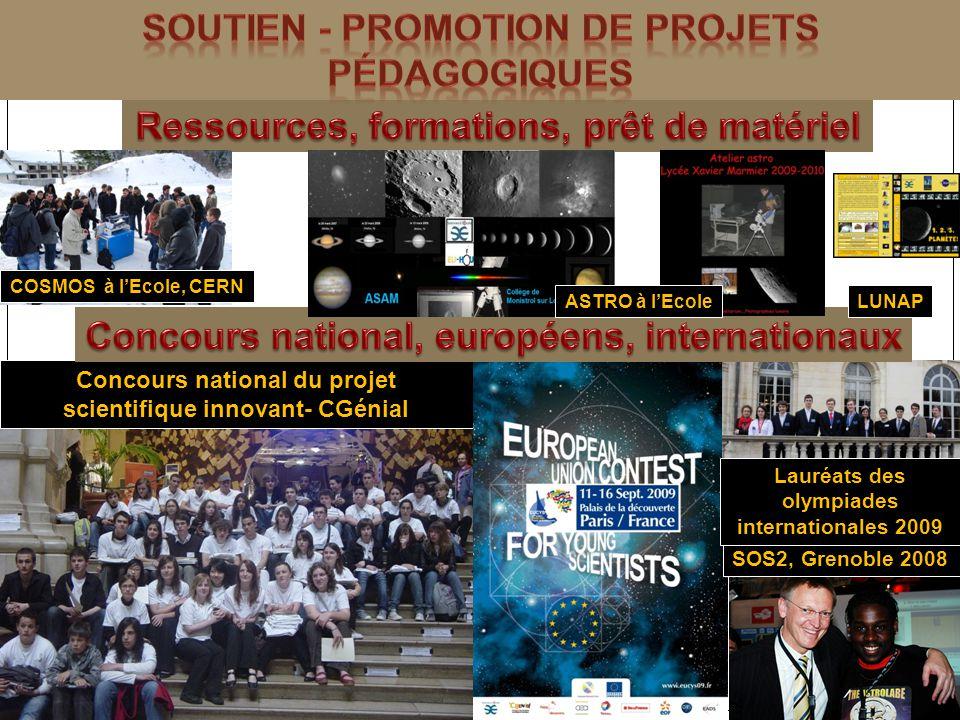 Soutien - promotion de projets pédagogiqUES