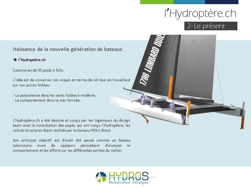 l'Hydroptère.ch 2- Le présent