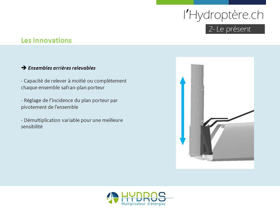 l'Hydroptère.ch 2- Le présent Les innovations