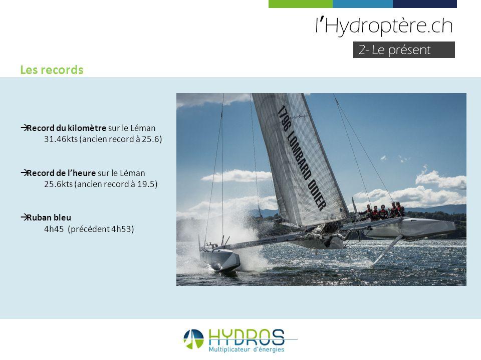 l'Hydroptère.ch 2- Le présent Les records