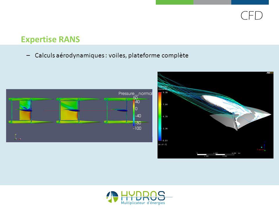CFD Expertise RANS Calculs aérodynamiques : voiles, plateforme complète 55