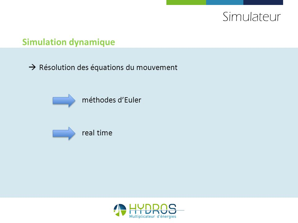 Simulateur Simulation dynamique Résolution des équations du mouvement