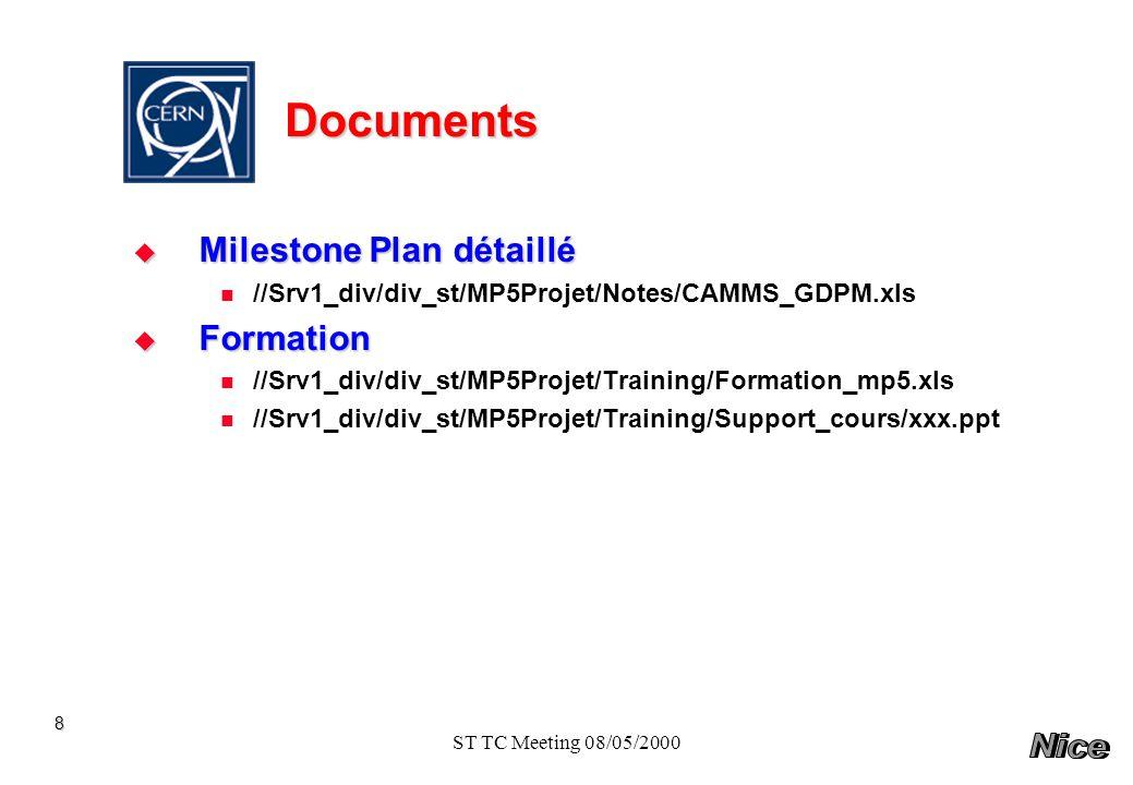 Documents Milestone Plan détaillé Formation