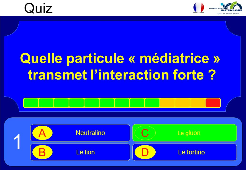 Quelle particule « médiatrice » transmet l'interaction forte