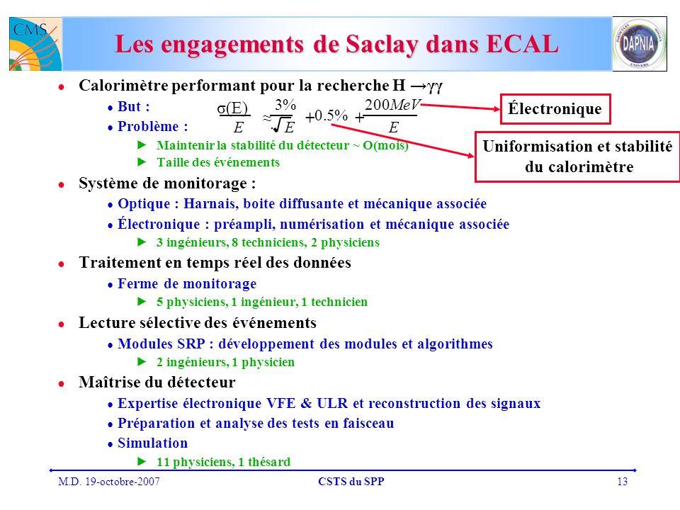 Les engagements de Saclay dans ECAL