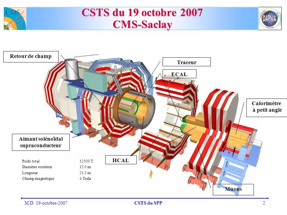 CSTS du 19 octobre 2007 CMS-Saclay