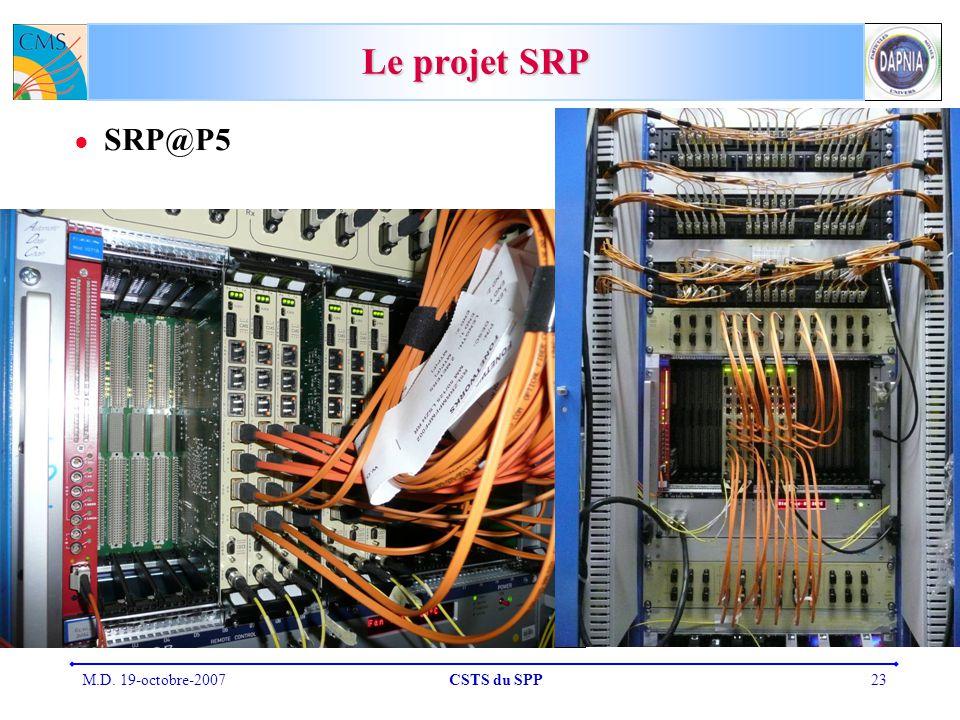 Le projet SRP SRP@P5 M.D. 19-octobre-2007 CSTS du SPP