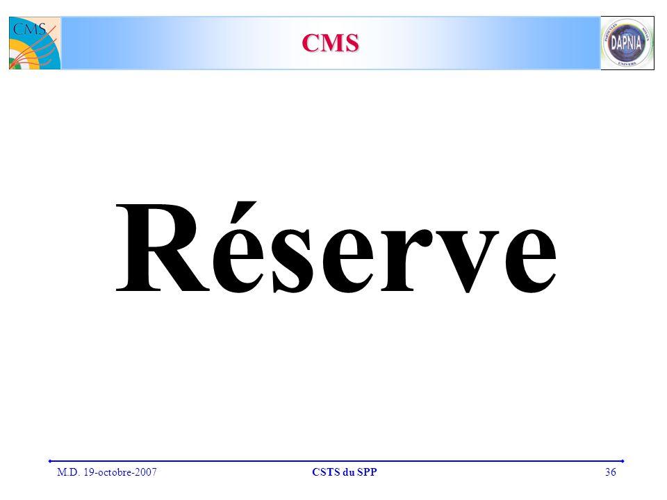 CMS Réserve M.D. 19-octobre-2007 CSTS du SPP