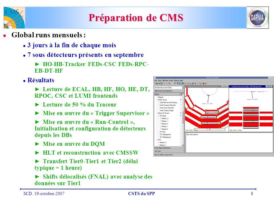 Préparation de CMS Global runs mensuels :