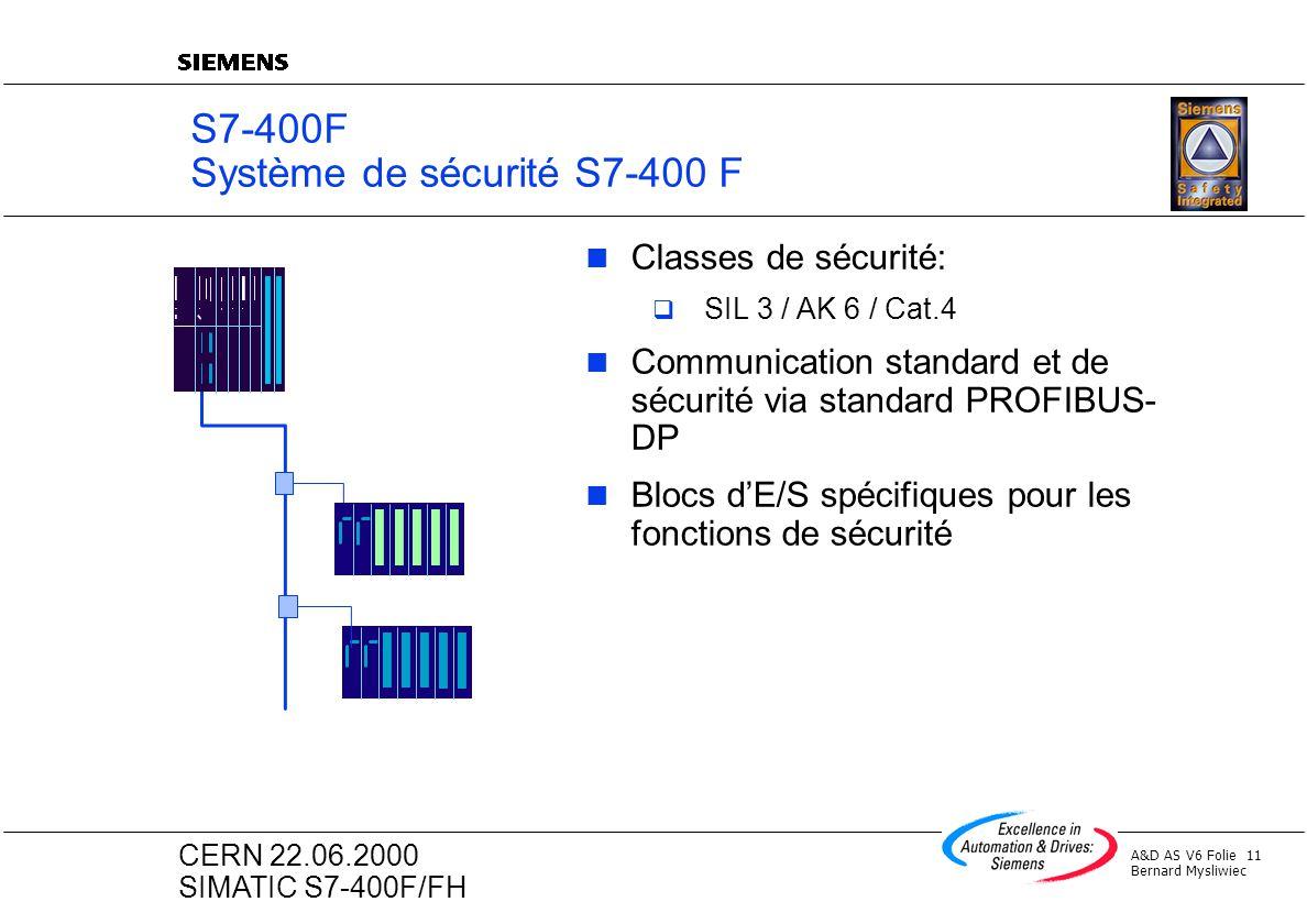 S7-400F Système de sécurité S7-400 F