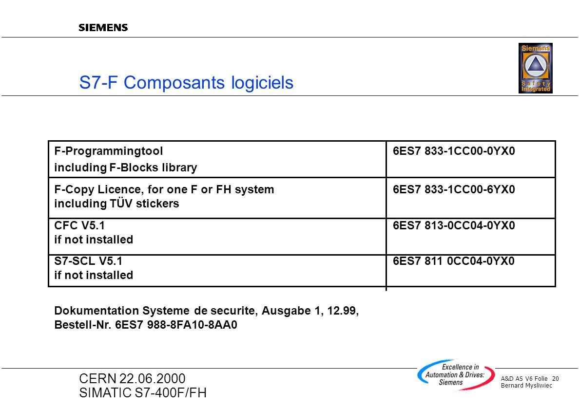 S7-F Composants logiciels