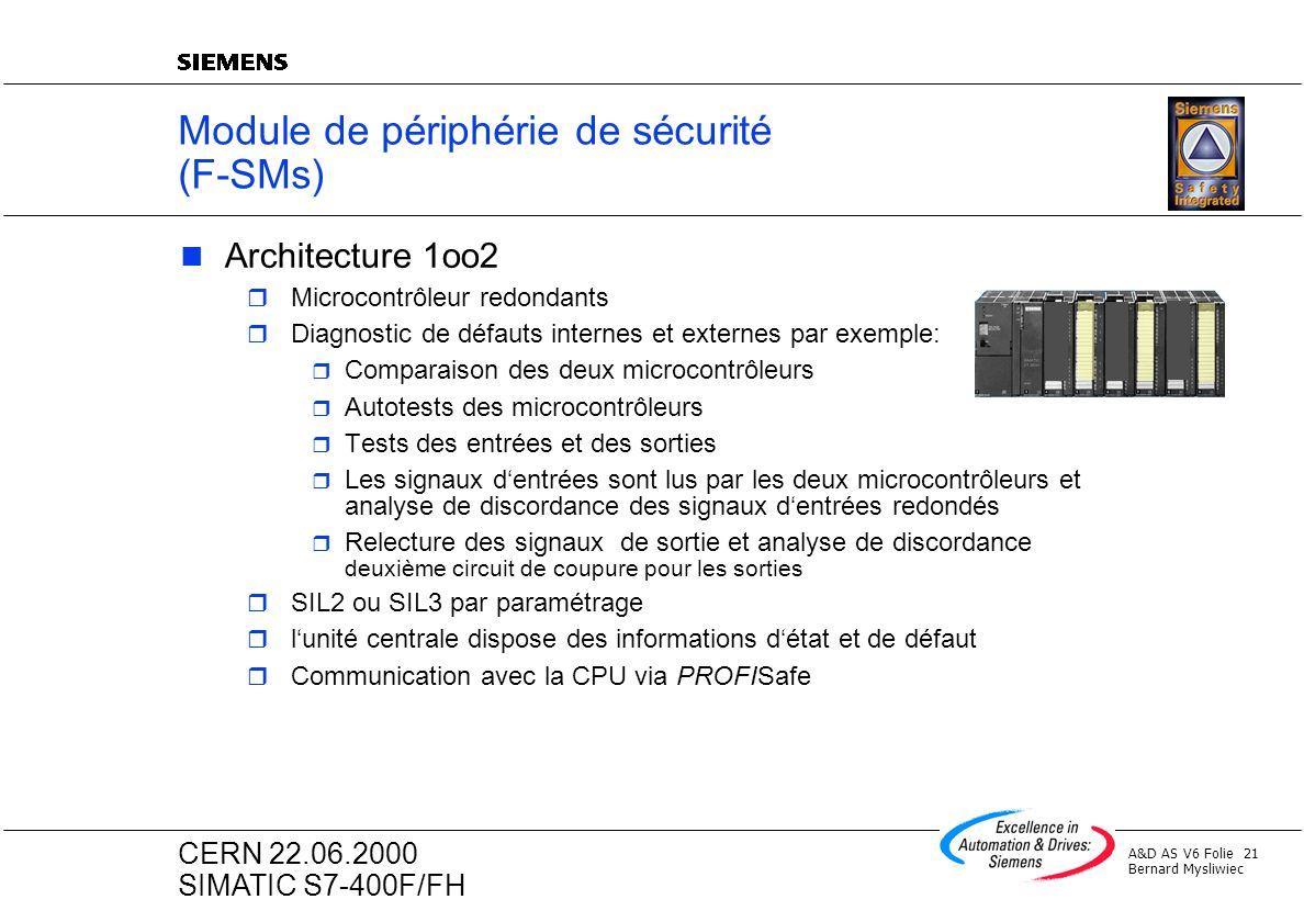 Module de périphérie de sécurité (F-SMs)