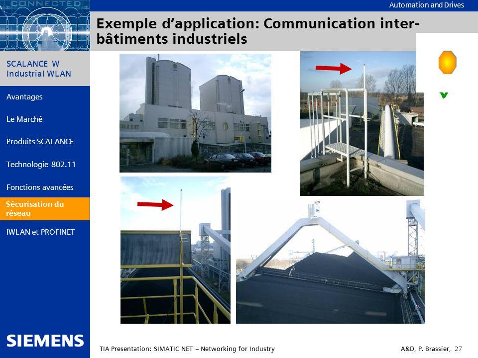 Exemple d'application: Communication inter-bâtiments industriels