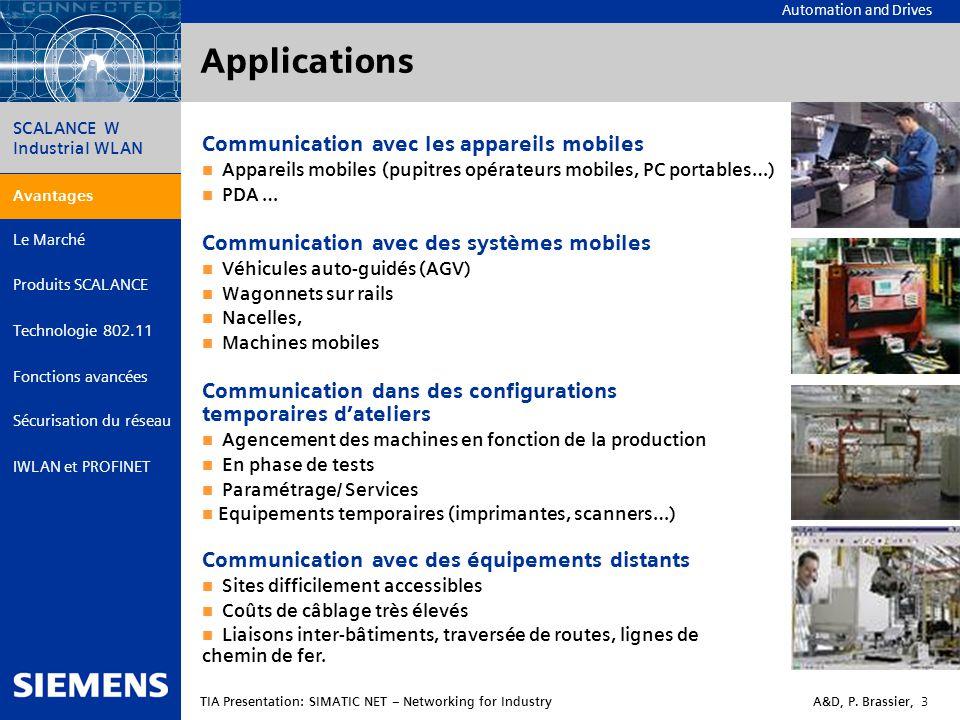 Applications Communication avec les appareils mobiles