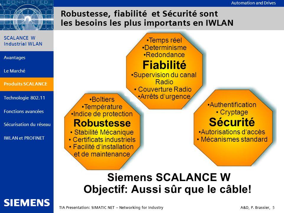 Siemens SCALANCE W Objectif: Aussi sûr que le câble!